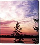Pastel Pink Sunset Canvas Print