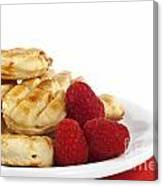 Pastries And Raspberries Canvas Print