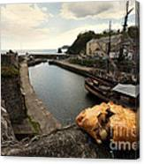 Pasty On The Harbour Canvas Print
