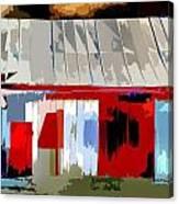 Patchwork Barn Canvas Print