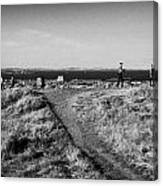 Path Around Calton Hill Looking Towards The Firth Of Forth And Triangulation Point Edinburgh Scotlan Canvas Print