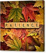 Patience-autumn Canvas Print