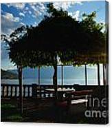 Patio In Backlight Canvas Print