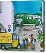 Patmos Fish Monger Canvas Print