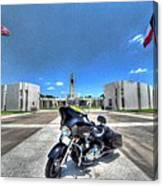 Patriot Guard Rider At The Houston National Cemetery Canvas Print