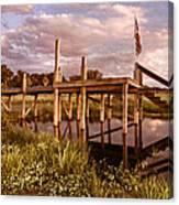 Patriotic Dock Canvas Print