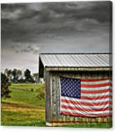 Patriotic Shed Canvas Print