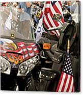 Patriotism Rides Canvas Print