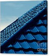 Pattern Of Blue Roof Tiles Canvas Print