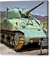 Patton M4 Sherman Canvas Print