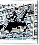 Paul Revere Galloping Statue Canvas Print