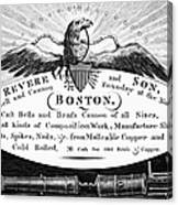 Paul Revere: Trade Card Canvas Print