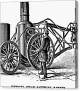 Paving Machine, 1879 Canvas Print