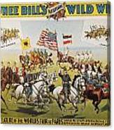 Pawnee Bill Poster, 1895 Canvas Print