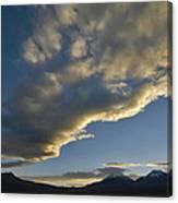 Payachatas Mountains. Republic Of Bolivia.  Canvas Print