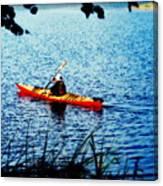 Peaceful Canoe Ride Ll Canvas Print