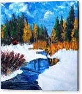Peaceful Creek 2012 Canvas Print
