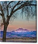 Peaceful Early Morning Sunrise Longs Peak View Canvas Print