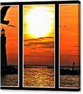 Peaceful Sunset Triptych Series Canvas Print