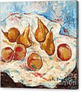 Peaches And Pears Canvas Print