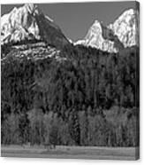 Peaks Near Schwangau In The Bavarian Alps Canvas Print