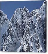 Peaks Of Takhinsha Mountains Canvas Print