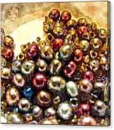 Pearls In A Pile  Art Canvas Print