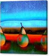 Pears On Ice 01 Canvas Print