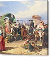 Peasants Of The Campagna Canvas Print