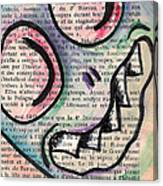 Peekaboo Monster Canvas Print