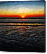 Peeking Over The Horizon Canvas Print