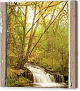Peeling Window Waterfall Nature View Canvas Print