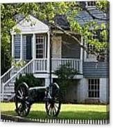 Peers House And Cannon Appomattox Court House Virginia Canvas Print