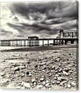Penarth Pier Cream Canvas Print