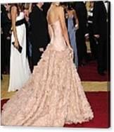 Penelope Cruz Wearing Atelier Versace Canvas Print