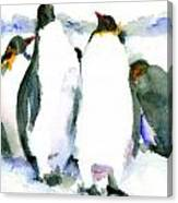 Penguin Lovers Canvas Print