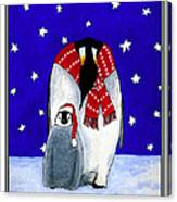 Penguin's First Christmas Canvas Print