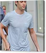 Penn Badgley, Walks To The Gossip Girl Canvas Print