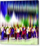 People Walking In The City-2 Canvas Print