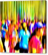 People Walking In The City-4 Canvas Print