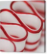 Peppermint Christmas Ribbons Canvas Print