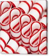 Peppermint Ribbon Candy Canvas Print