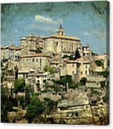 Perched Village Of Gordes Canvas Print