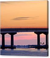 Perdido Bridge Sunrise Closeup Canvas Print