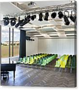 Performance Room With A Piano Canvas Print