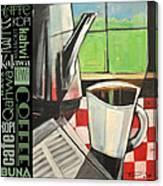 Perk Coffee Languages Poster Canvas Print