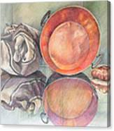 Perol Con Bulto Y Pan Canvas Print