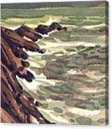 Pescadero Rocks Canvas Print