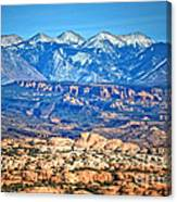 Petrified Dunes And La Sal Mountains Canvas Print