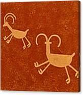 Petroglyph Artwork Canvas Print